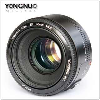 全新現貨-小兔@ for Canon 永諾YN 50mm 1.8 佳能專用標準定焦鏡頭50 1.8相機鏡頭大光圈AF鏡頭 定焦鏡頭