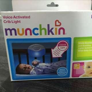 Munchkin voice activated crib light