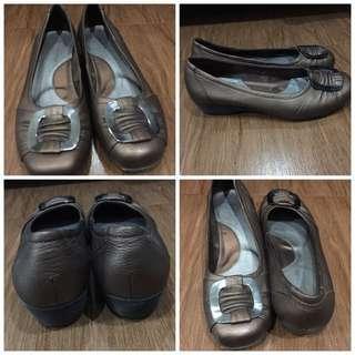 Branded Flat Shoes -piere Cardin- Metalic Brown