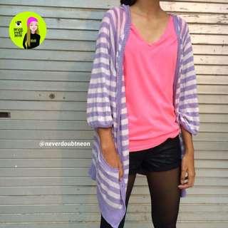 Purple Stripe Cardi