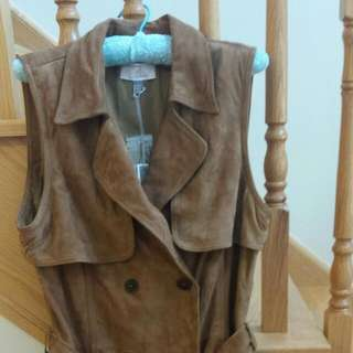 Brand New Chealse 28 Leather Trench vest With Tags On