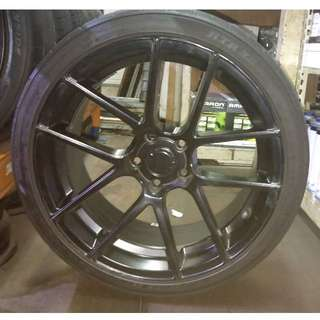 """19"""" staggered sport rims + almost new tyres"""