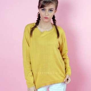 Steddy Store Sweater Loose Banana