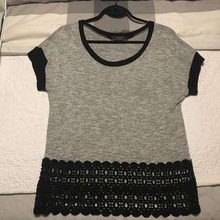 Black & Grey Top