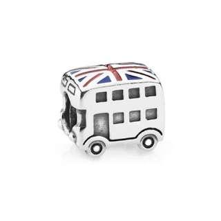 Union Jack Bus Pandora Charm