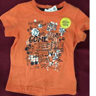 Brand New With Tag Pumpkin Patch Glow in The Dark Top Size 3-6 months RRP 19.99