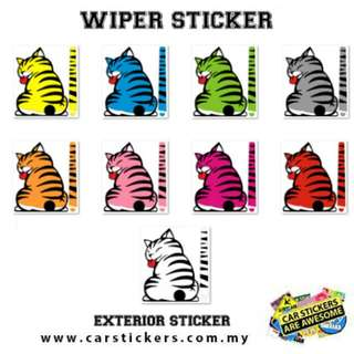 Cat Wiper Sticker