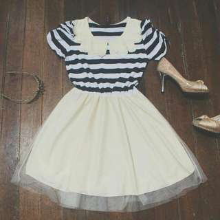 Striped Black And White Dress [RESERVED]