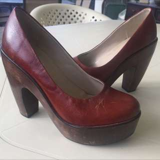 Wittner Leather/Wood Heels