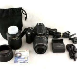 Nikon DSLR5000 2 Lenses And Accessories Included