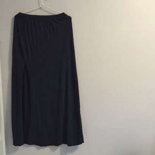 Long Dark Blue Hollister Skirt