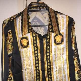 Versace Silk Long Sleeve