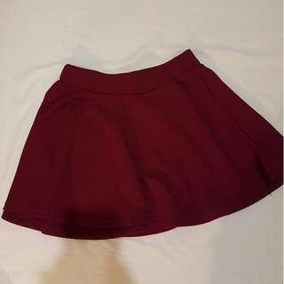 Red skater skirt, extra comfy