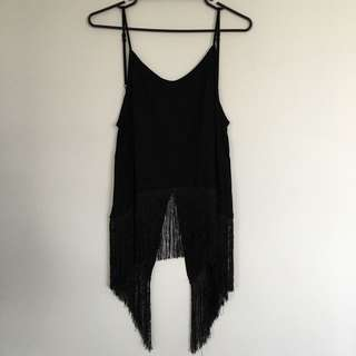 Low Back Tassel Singlet Top