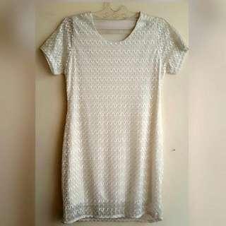 Dress / Baju White Renda.New