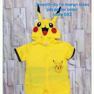 Halloweem Costume For Kids Pikachu