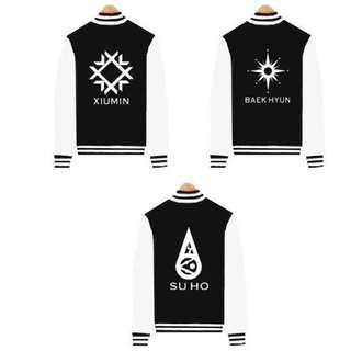 <PO> Unisex EXO members baseball jacket
