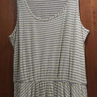 Forever 21 Yellow-Grey stripes Dress