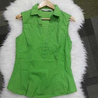 ZARA Green Blouse