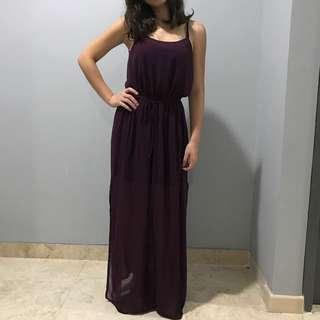 Miss Selfridge Dark Purple Dress