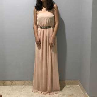 Trafaluc Zara Peach Maxi Dress