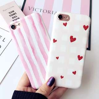 [PO] iPhone Korean Style Heart Striped Phone Case