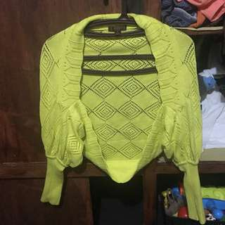 Knitted Cardigan Yellow
