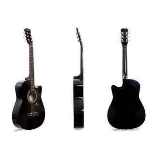Davis JG-38 Acoustic Guitar (Black)