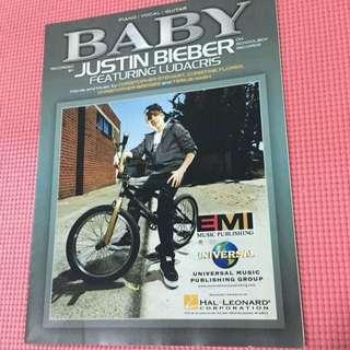 Justin Bieber Baby 單曲琴譜(鋼琴&吉他)免運