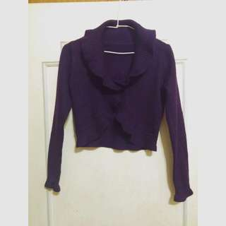 紫色針織小外套