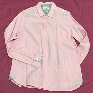 Pink Polka Dotted Button-down Shirt