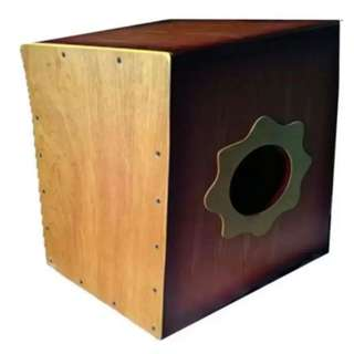 Kessler Beatbox Cajon with Pick Up (Brown) with Case