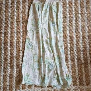 Vintage Fabric Boho Pastel Maxi Skirt One Size