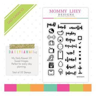 (NEW) Mommy Lhey Designs Stamps My Daily Kawaii V2