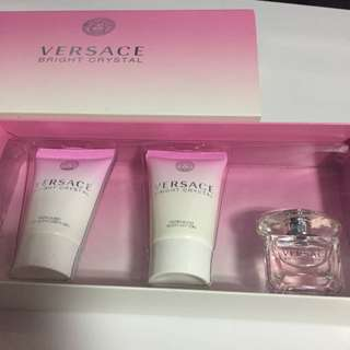Versace Bright crystal ( Lotion , Shower Gel , Perfume)