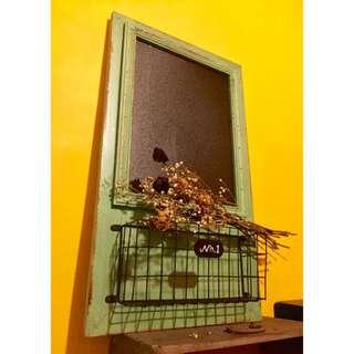 背掛式進口鄉村風木製鐵器黑板