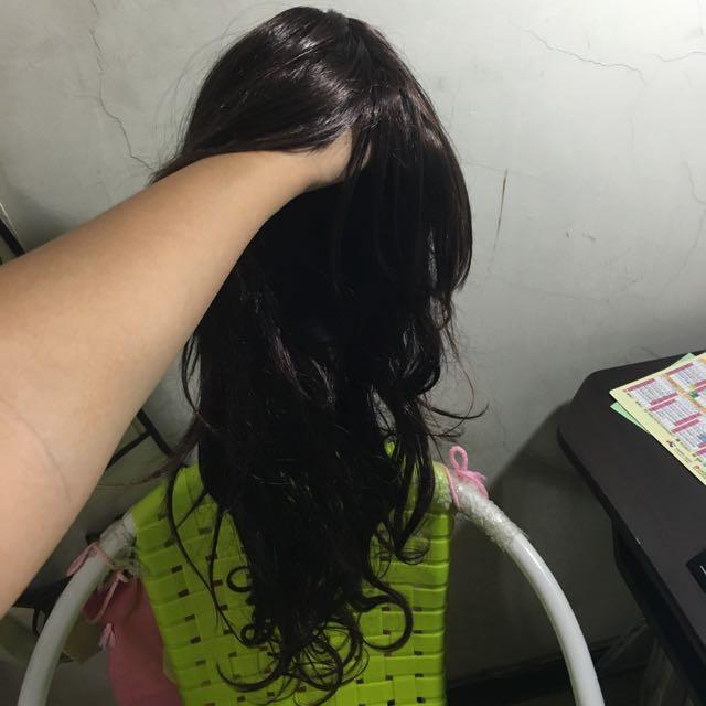 波浪捲咖啡色假髮