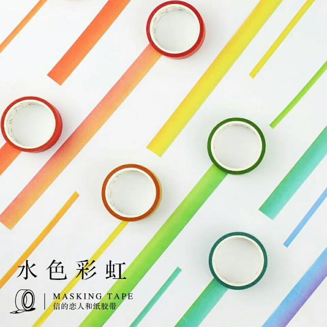 現貨 彩虹紙膠帶