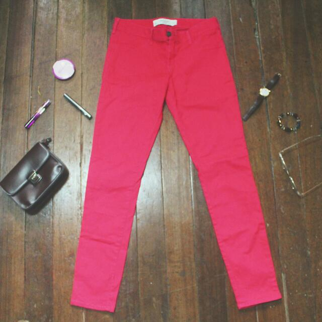 Abercrombie and Fitch Pink Jeans