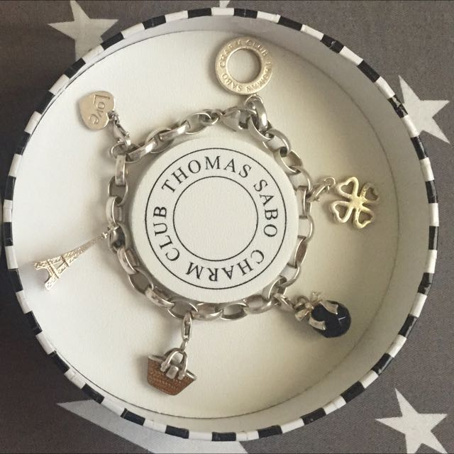 Authentic THOMAS SABO Bracelet With Charms