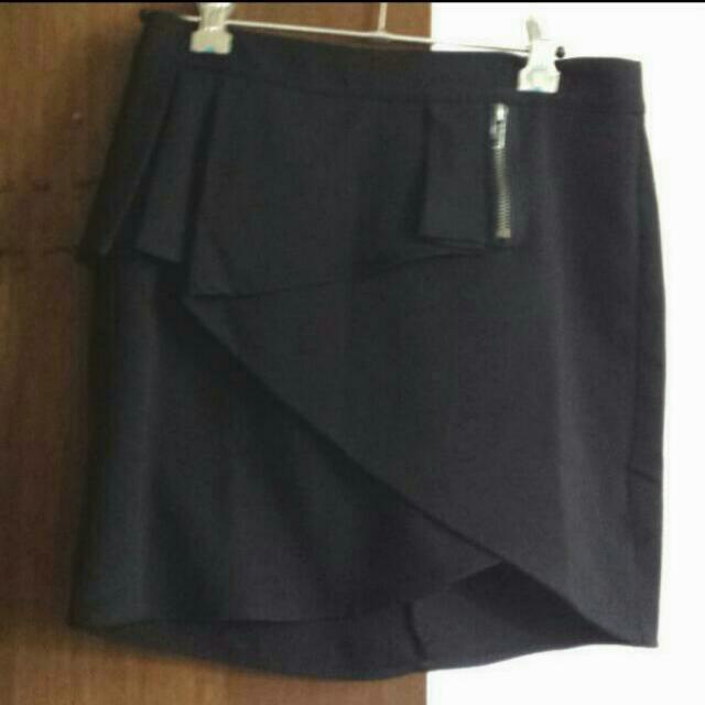 Black Dollygirl Peplum Skirt