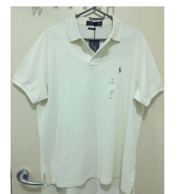 Brand New Men Cotton Polo Shirt RALPH LAUREN Small Pony Cream - Size XL - RRP $99