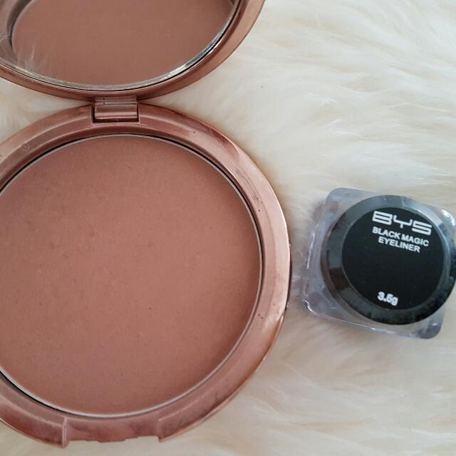 BYS Black Cream Eyeliner - New    Sugar Baby Bronzer - Used  Fixed Price.  No Returns   Cash/paypal/Bank TFR   Please ask If any questions :-)