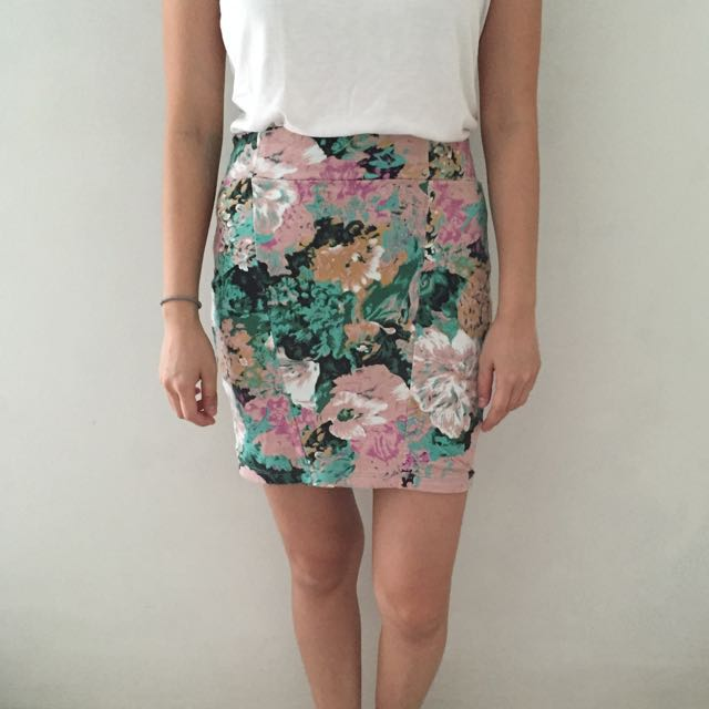 Cotton On Floral Tube Skirt
