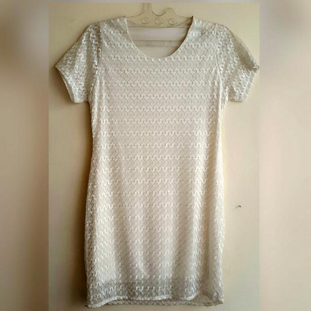 Dress / Baju White Renda.New
