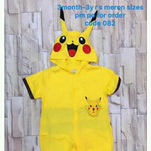 Halloweem Costume For Kids Pikachu