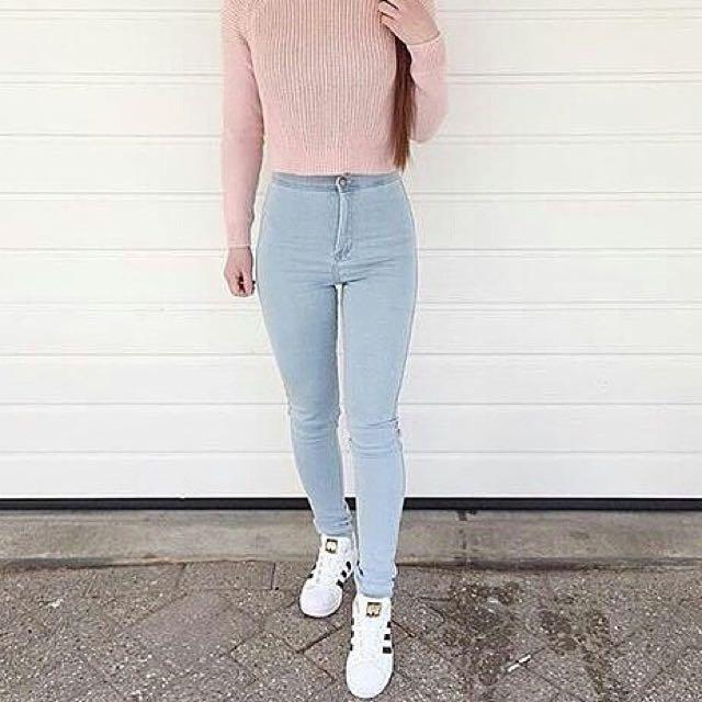 Highwaist Light Blue Jeans