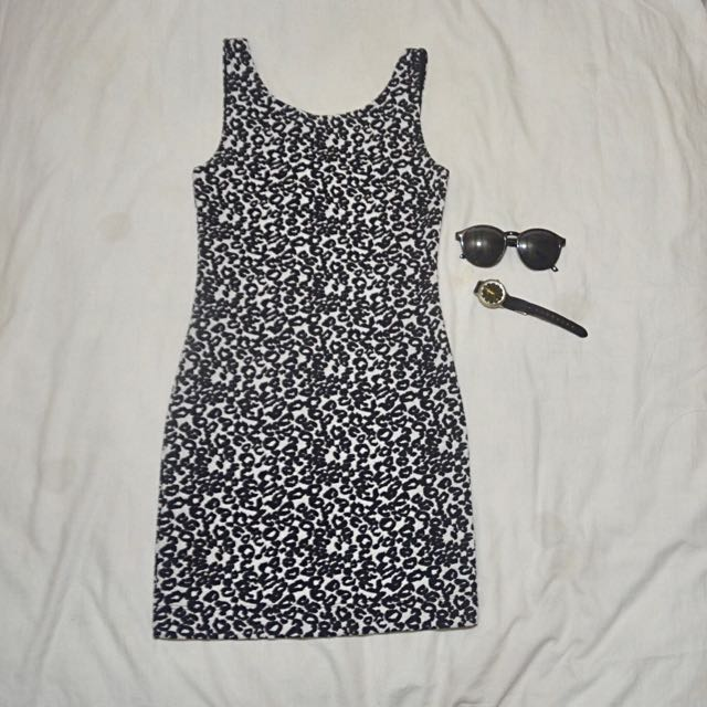 H&M Divided Leopard Bodycon Dress (Brand New)