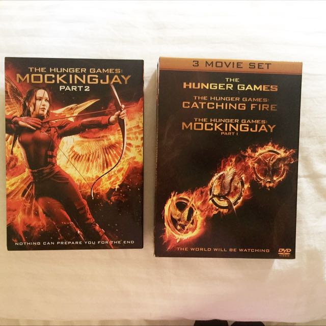 HUNGER GAMES MOVIEs (DVD)
