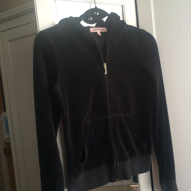 Juicy Couture Black Zip Up Sweater